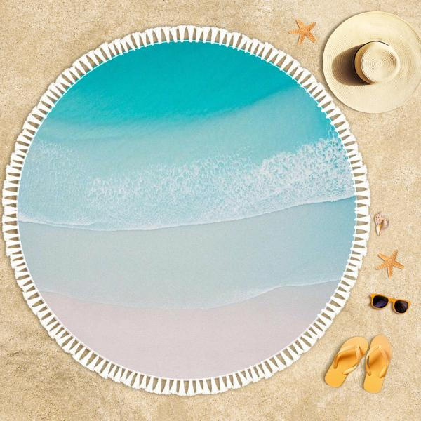 Shore Waves 2 Beach Towel