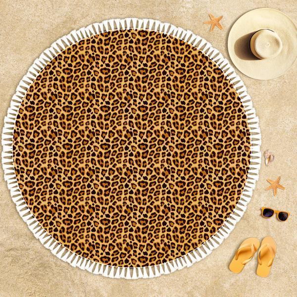 Leopard Pattern Beach Towel