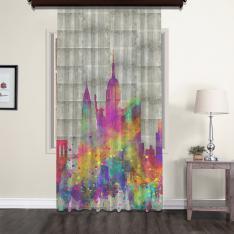 New York Nostalgic Tulle Curtain