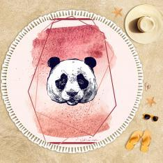 Panda Illustration Beach Towel
