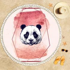 Panda İllustrasyon Plaj Havlusu