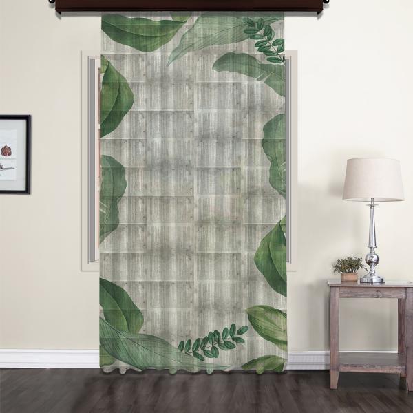 Leaves Nostalgic Tulle Curtain