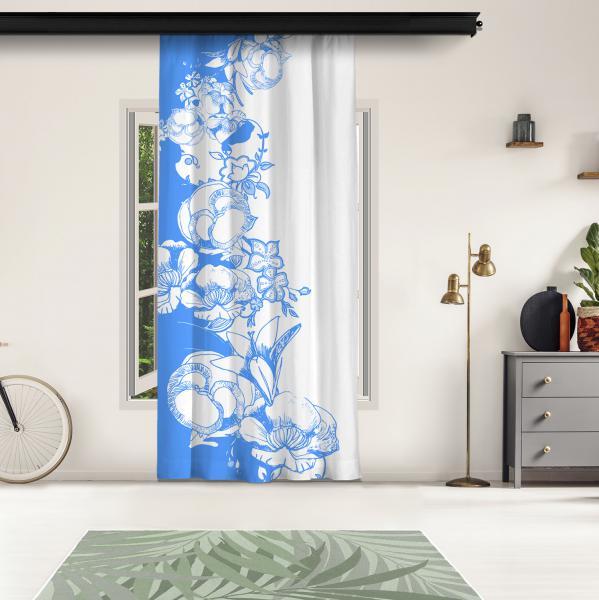 Mavi Çiçek Motifleri