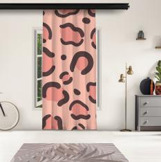 Pink Leopard Pattern Panel Curtain