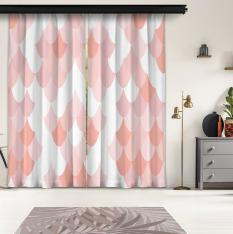 Powder Pink Snake Pattern 2 Piece Panel Curtain