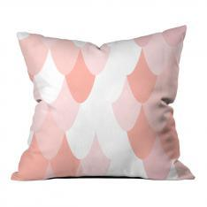 Powder Pink Snake Pattern Pillow