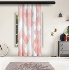 Powder Pink Snake Pattern Panel Curtain