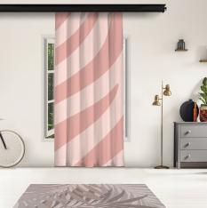 Powder Pink Zebra Pattern Panel Curtain