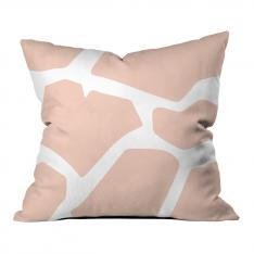Powder Pink Giraffe Pattern Pillow
