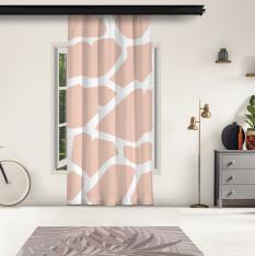 Powder Pink Giraffe Pattern Panel Curtain