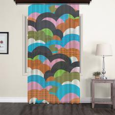 Colourful Clouds Kids Tulle Curtain