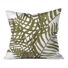 Plain Leaves and Gray Floor Pillow