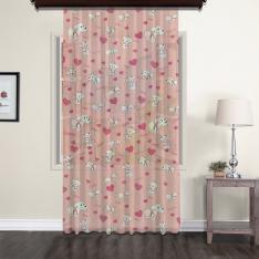 Lovely Dog Zuzu Light Pink Tulle Curtain