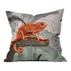 Tropical Trees and Sepia Chameleon Pillow