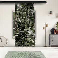 Tropical Thin Leaves Curtain