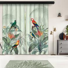 Tropical Parrots 2 Piece Panel Curtain