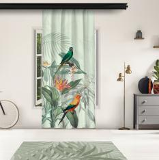Tropical Parrots Model 1 Panel Curtain