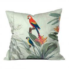 Tropical Parrots Model 2 Pillow