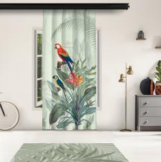 Tropical Parrots Model 2 Panel Curtain