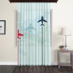 Aircraft Models Tulle Curtain
