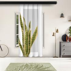 Long Leaves and Gray Floor Panel Curtain
