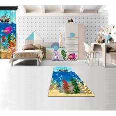 Cipcici Theater Underwater Orchestra Printed Carpet