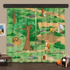 Cipcici Theatre La Fontaine and Aesop Family 2 Panel Curtain