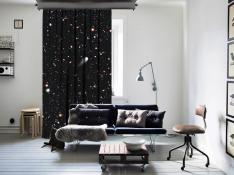 ''Galaxies Of The Universe'' Space One Piece Curtain