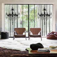Magnificent Chandelier 2 Pieces Tulle Curtain Set