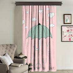 """I Love You"" Umbrella Panel Curtain Single Panel"