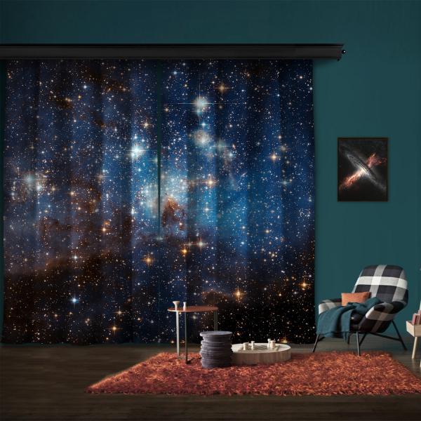Büyük Macellan Bulutunda Yıldız Oluşturan Bölge LH 95 2 Kanat Fon Perde