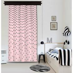 Powder Droplets Pink Curtain By İmren Gürsoy