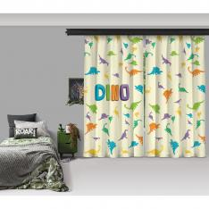 Dino Composition 2 Panel Curtain