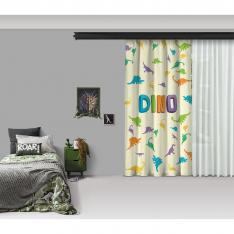 Dino Composition One Piece Panel Curtain