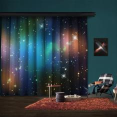Galaxy Küme Abell 520 (HST-CFHT-CXO Kompozit) 2 Kanat Fon Perde