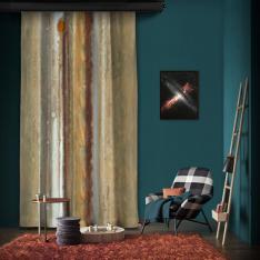 Jüpiter Küresel Harita Tek Kanat Fon Perde