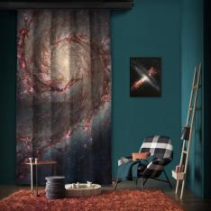 Hubble ACS Visible Image of M51 One Piece Panel Curtain