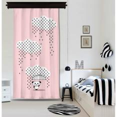 Downpour Panda Pink Curtain By İmren Gürsoy