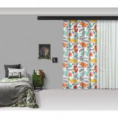 Cute Dinosaurs One Piece Panel Curtain