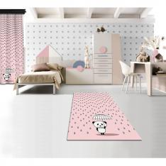 Rainy Panda Powder Printed Carpet By İmren Gürsoy
