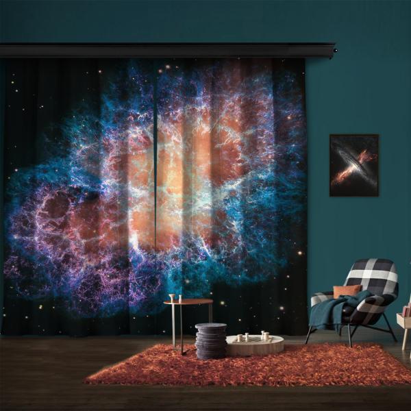 Yengeç Bulutsusu'nun Dev Hubble Mozaiği 2 Kanat Fon Perde