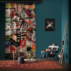 "Amsterdam ""Wall 2"" One Piece Panel Curtain"