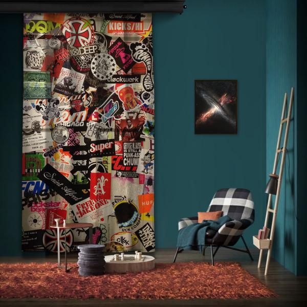 """Amsterdam """"Wall 2"""" One Piece Panel Curtain"""