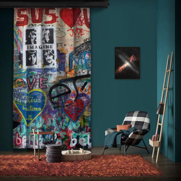 """Amsterdam """"Wall 3"""" One Piece Panel Curtain"""
