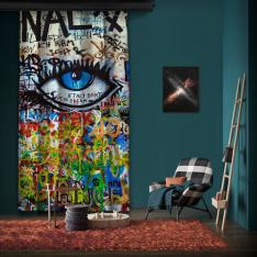 "Amsterdam ""Wall 4"" One Piece Panel Curtain"