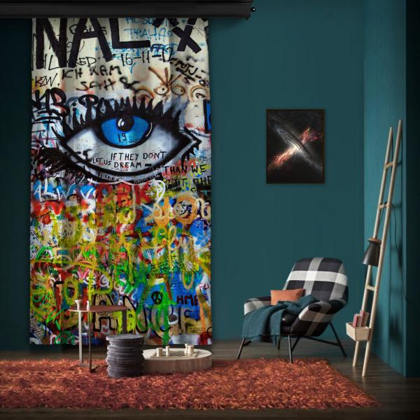 """Amsterdam """"Wall 4"""" One Piece Panel Curtain"""
