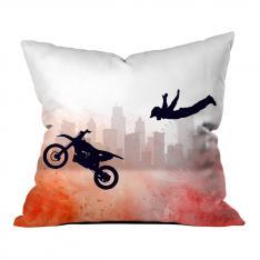 Artistic Motor Jump Printed Pillow