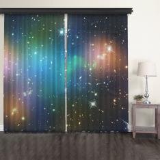 Galaxy Cluster Abell 520 (HST-CFHT-CXO Composite) 2 Panel Tulle Curtain
