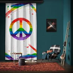 Rainbow Peace One Piece Panel Curtain