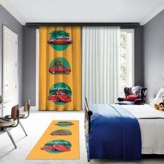 Classic Cars One Piece Panel Curtain